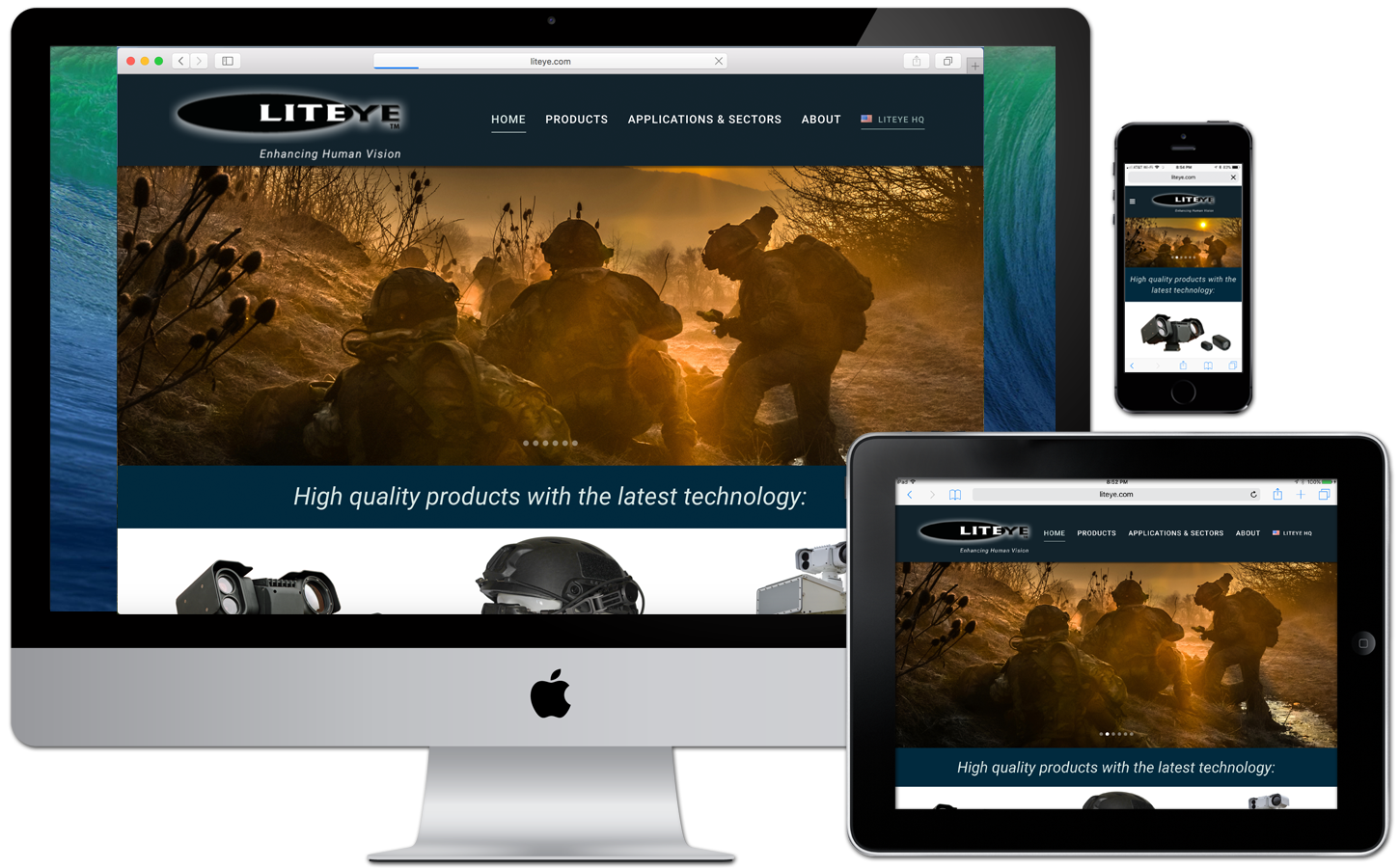 Defense Contractor Client desperately needed to bring their website into the current decade. While the site was largely text and information-based, I helped them create something much more visually appealing for business-to-business clientele.